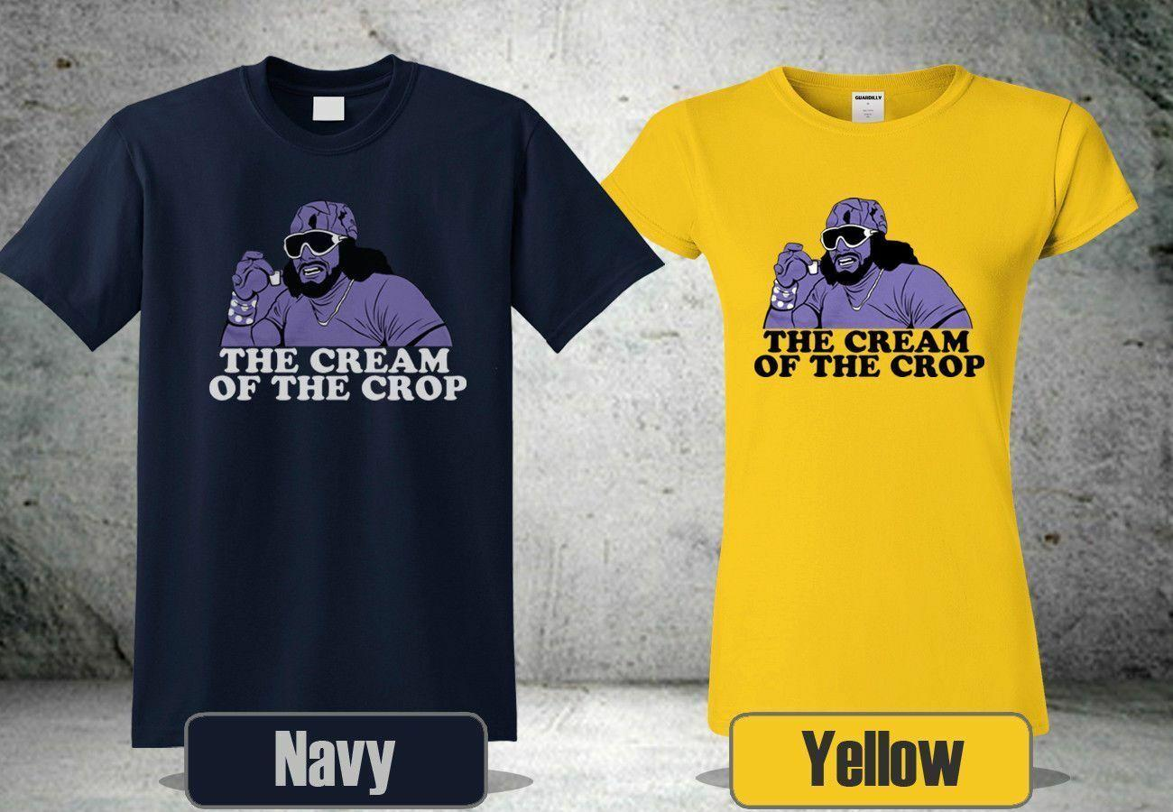 dfd26d49aa8 RANDY MACHO MAN SAVAGE CREAM OF THE CROP YELLOW&NAVY FUNNY TSHIRT SIZE S  3XL ZM1 Funny Unisex Casual Top Tee Shirts Online Cool Tee Shirts From  Paystoretees ...