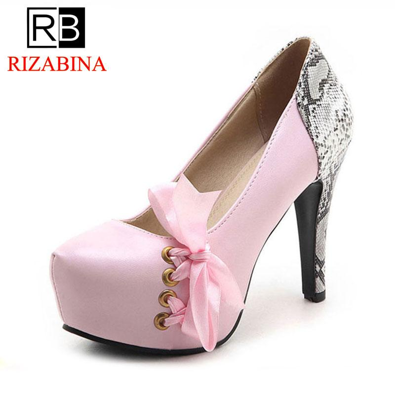 24821cde20 Wholesale Size 32 43 Sexy Women'S Bowknot High Heel Shoes Platform Round  Toe Thin Heels Pumps Party Club Wedding Women Footwears Sexy Shoes Clogs  For Women ...