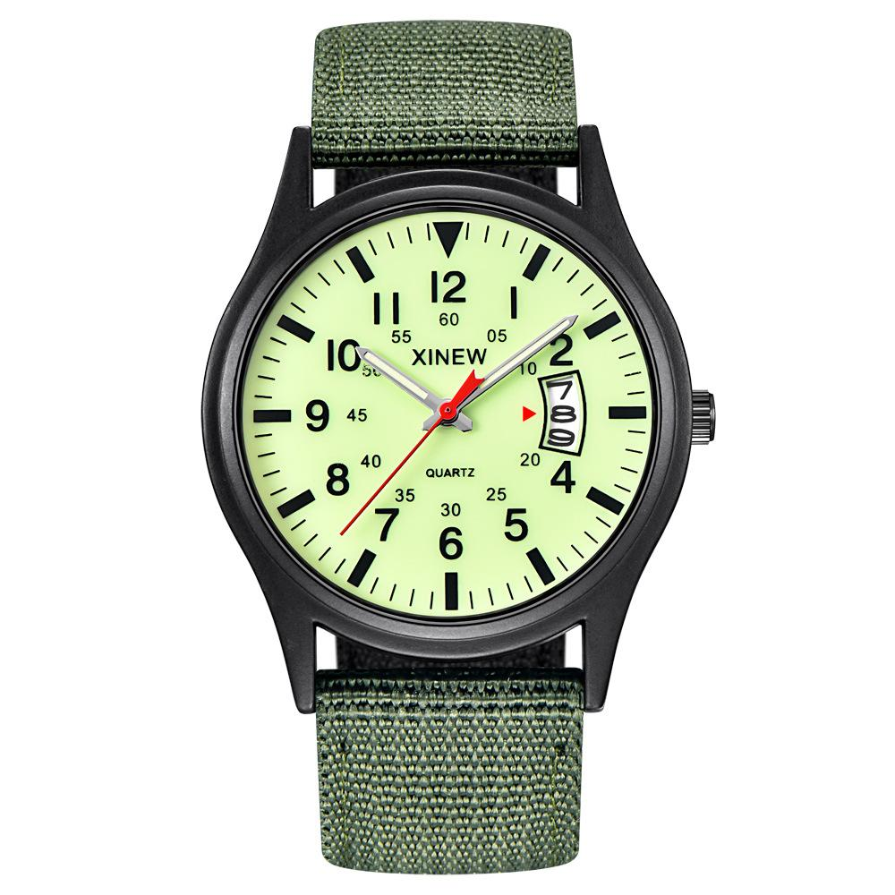 Glow in the Dark Uhren Tops Marke Luxus Military Mens Clock Quarz Army Watch schwarzes Zifferblatt Datum Luxus Sport Armbanduhr