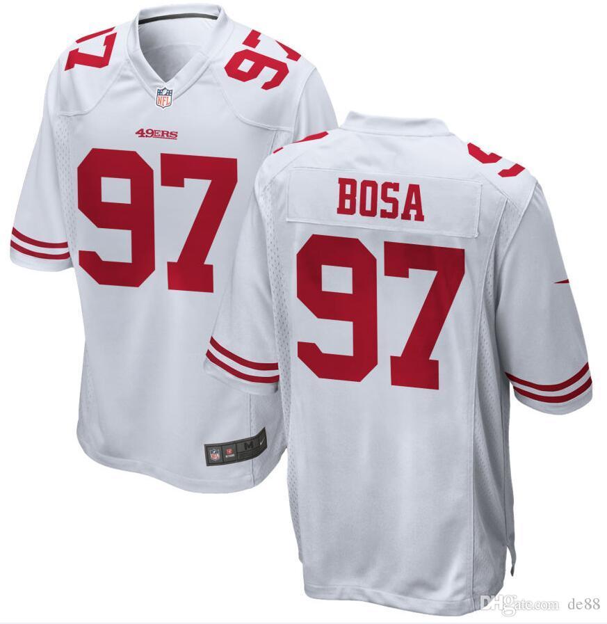 sale retailer 8ec68 6eea7 2019 Nick Bosa George Kittle 49ers Jersey Jimmy Garoppolo Mitch Wishnowsky  Richard Sherman custom american football jerseys 4XL 5XL 8xl kids