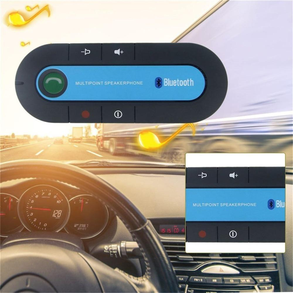 2b7059c990a Wireless Bluetooth 4.1 Hands Free Car Kit Sun Visor Speakerphone Bluetooth  Speaker MP3 Music Player With Car Charger Cars Sound System Cars Sound  Systems ...