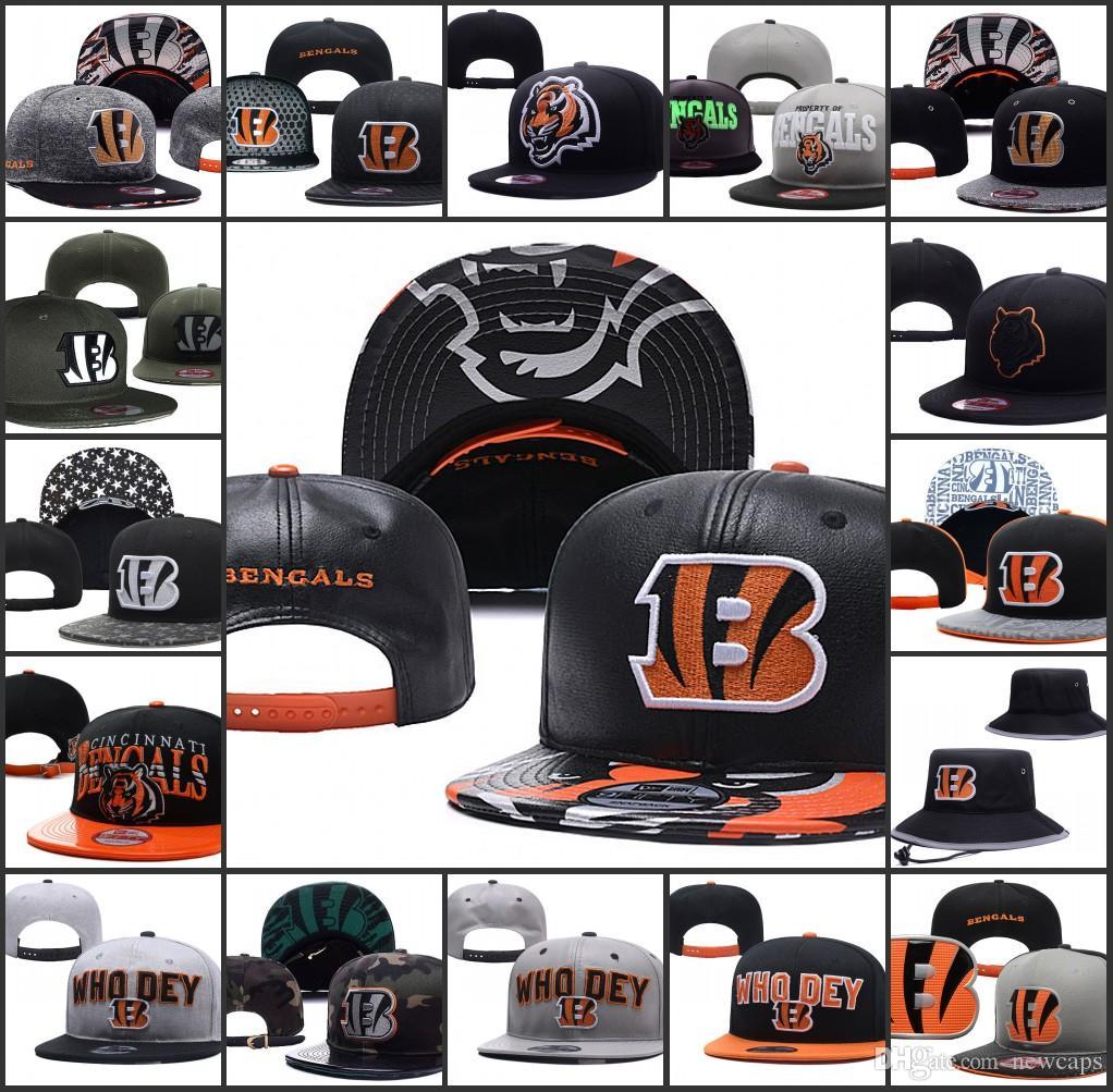 6ae0001b 2019 Cincinnati Adjustable Hats Bengals Embroidery Team Logo Snapback All  Team Wholeasle Knit Beanies Caps One Size