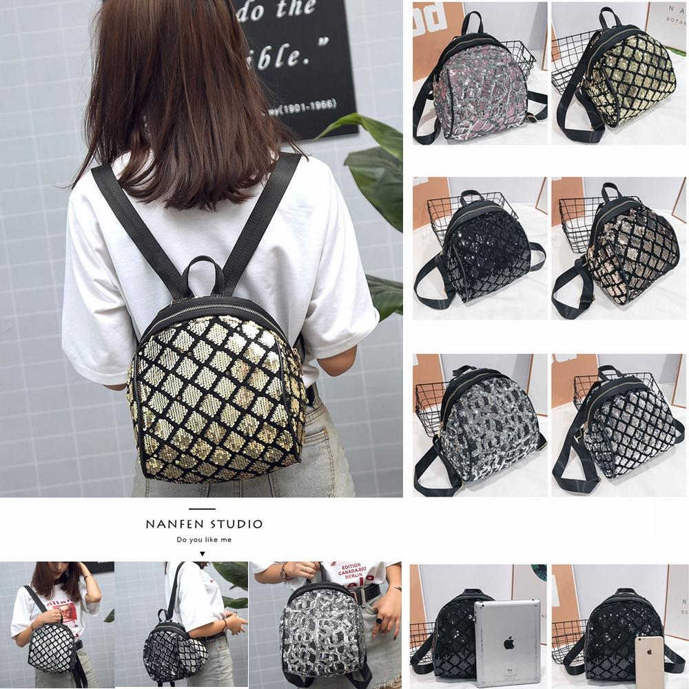 9b38908025 Reversible Sequin Backpacks For Girls Unique Glitter Mermaid Shoulder Bag  Causal Women Diamond Plaid School Knapsack AAA1537 One Strap Backpacks For  School ...