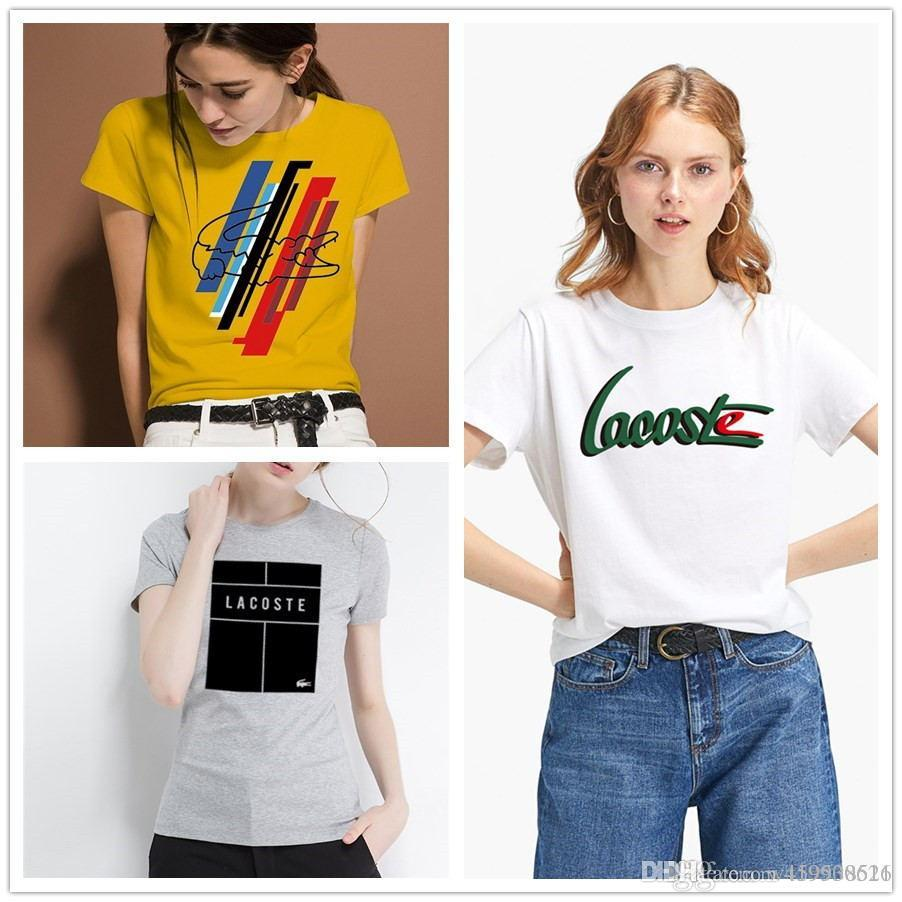 e849fc41b8 Summer 2019 Fashion Designer Luxury Brand High Quality Clothing Women'S T  Shirt Round Collar Casual Women'S T Shirt Top Crazy Tshirts Buy Tshirt From  ...