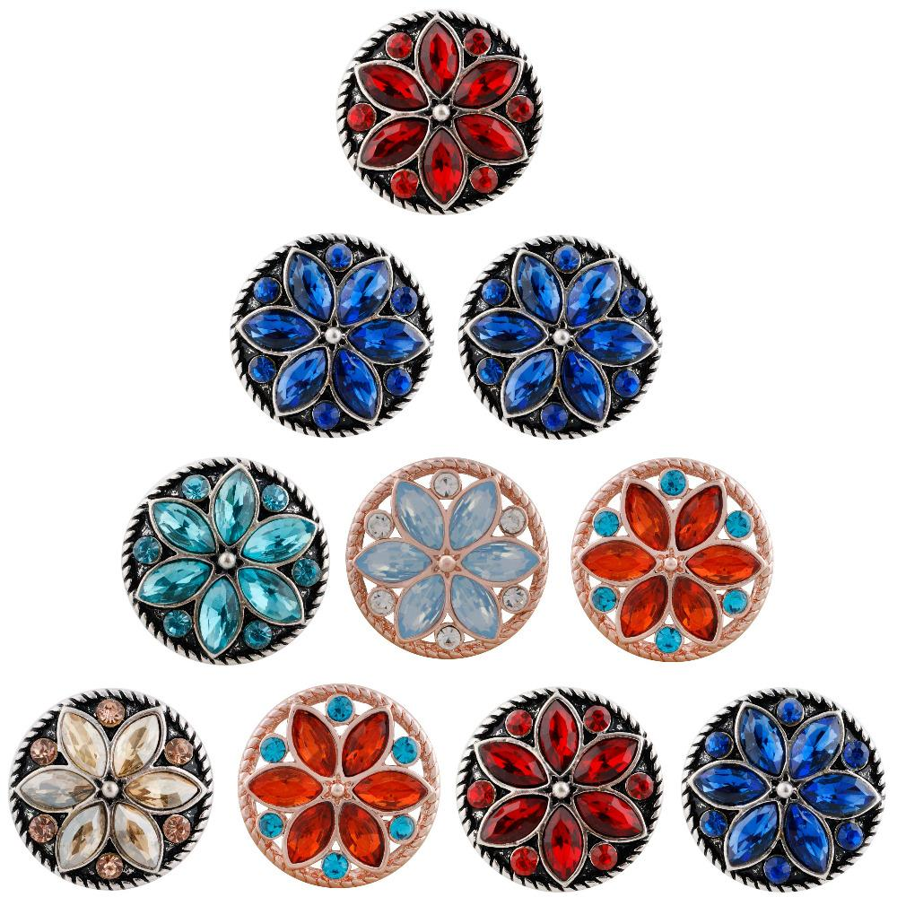 ca79115b9f Snap Jewelry Big Colorful Rhinestone Snap Button Jewelry Fit 18mm ...