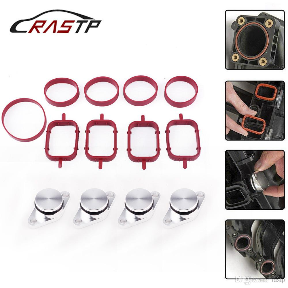RASTP-22/33mm 4/6Pcs Diesel Swirl Flap Blanks Intake Manifold Gaskets Repair Replacement Kit for BMW M57 RS-CR1819