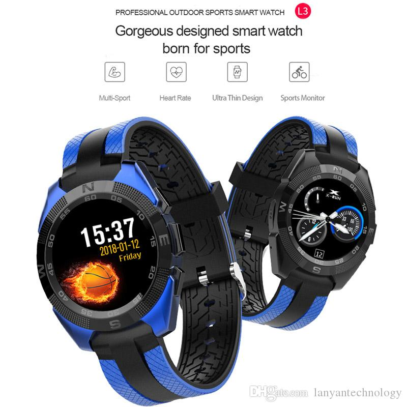 Fashion Sporty Style Smart Watch Built in Pedometer Sedentary Remind Sleep Monitor Remote Camera Compatible with ISO Android