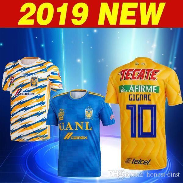 bd3aa0c617a 2019 2018 2019 UANL TIGRES New Third DE LA Soccer JERSEYS 18/19 Mexico Club  LIGA MX Maillot De Foot Home Yellow 6 Star GIGNAC Football Shirts From  Honest ...