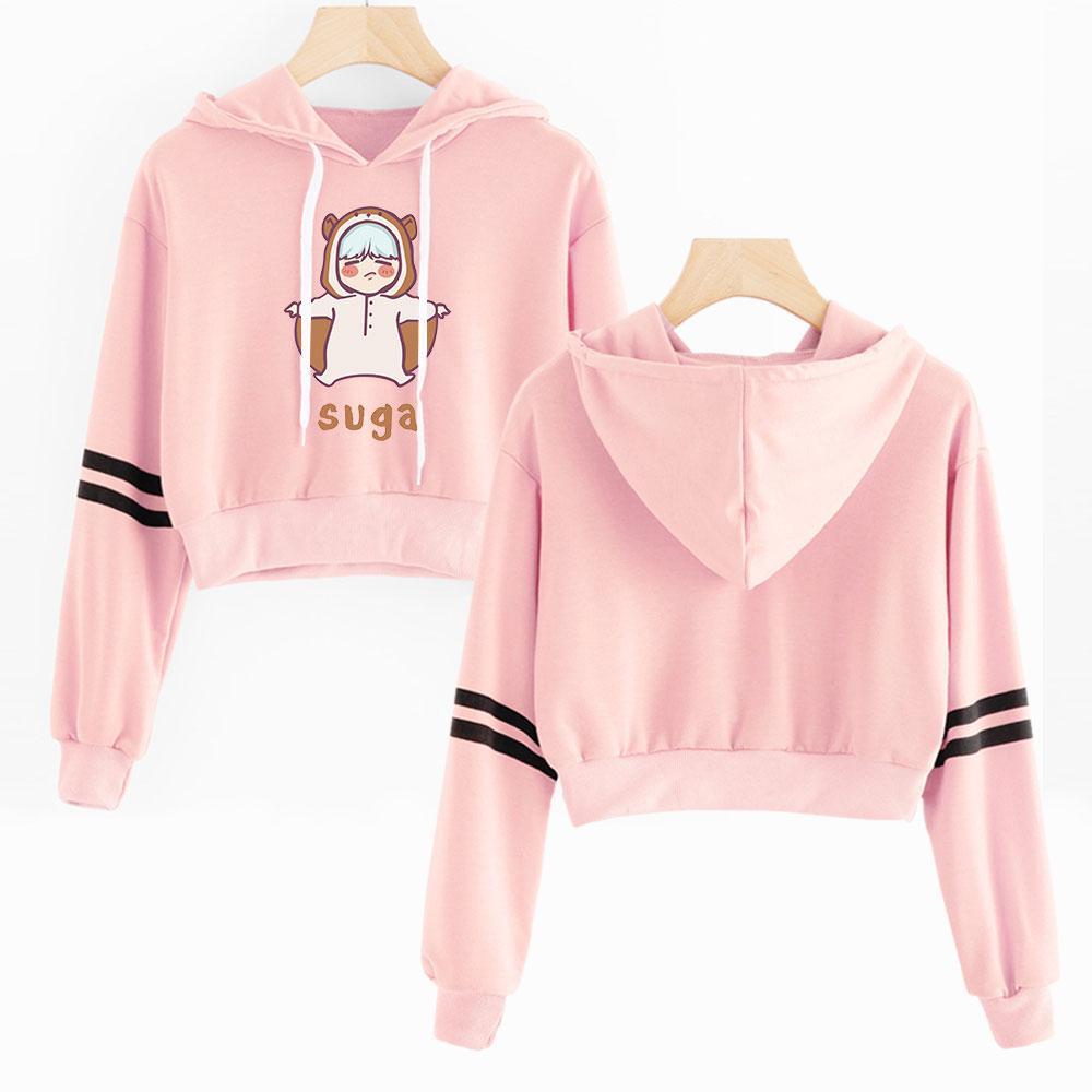 940b908ad 2019 BTS Hoodies Short Bangtan Boys Idol Comfortable New Casual Fashion  Sexy Navel Hoodies Sweatshirt Outwear High Street Sweatshirt From Fried, ...