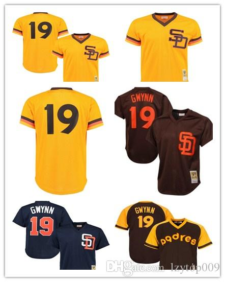 super popular 6a55e 6f7b6 Men's Padres 19 Tony Gwynn Mitchell San Diego & Ness Navy Cooperstown Mesh  Batting Practice women kids Jersey
