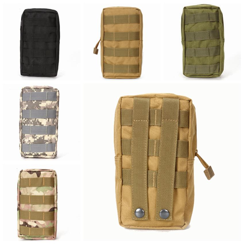 Nylon Mountaineering Bag Outdoor Molle Multi Funcation Waist Pack para teléfono móvil Mini Tools Pouch Sport Bag ZZA873