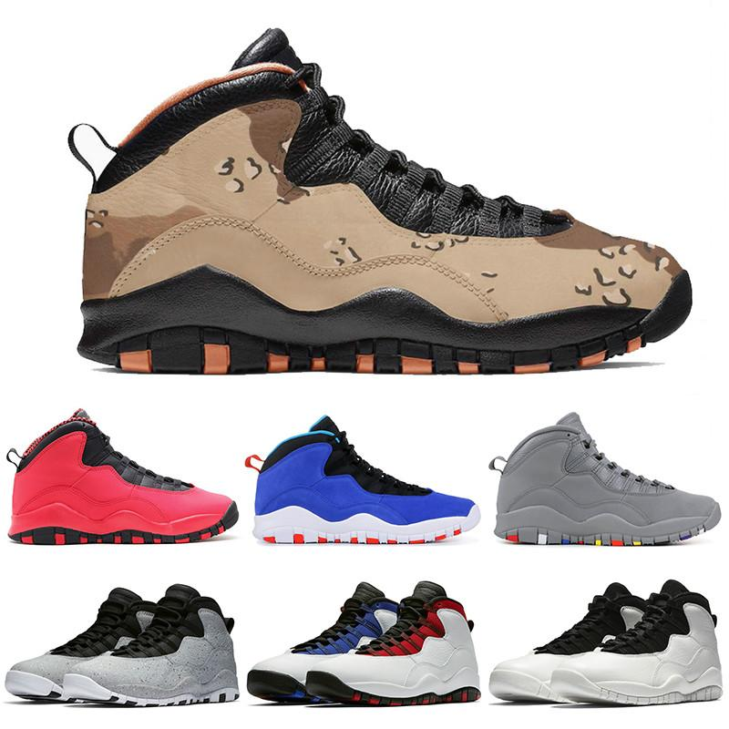 2278127e23903c 2019 Retro AJ10 Basketball Shoes Desert Cat Tinker Cement 10s Mens Shoes  High Help Cool Grey White Black Blue Trainers Sports Designer Sneakers From  ...