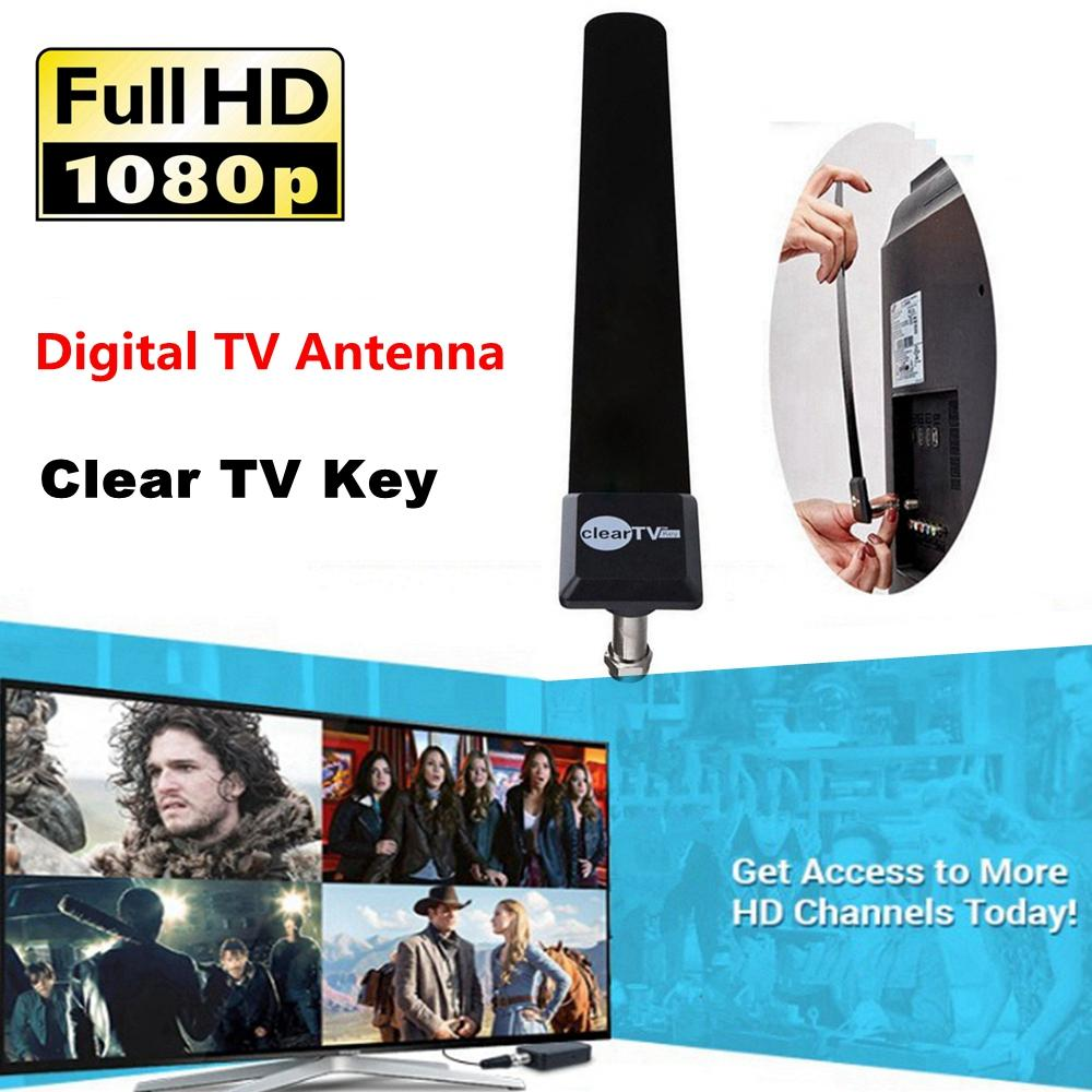 Clear TV Key Digital Indoor HDTV Free TV Antenna Fire Stick Antena  Television Antennas 1080P Ditch Cable on TV Satellite US r30