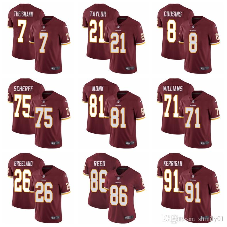 low priced cfd80 62ef4 #21 Sean Taylor Washington Men's Redskins 11 Alex Smith Jersey 86 Reed 25  Chris Thompson Football Jersey