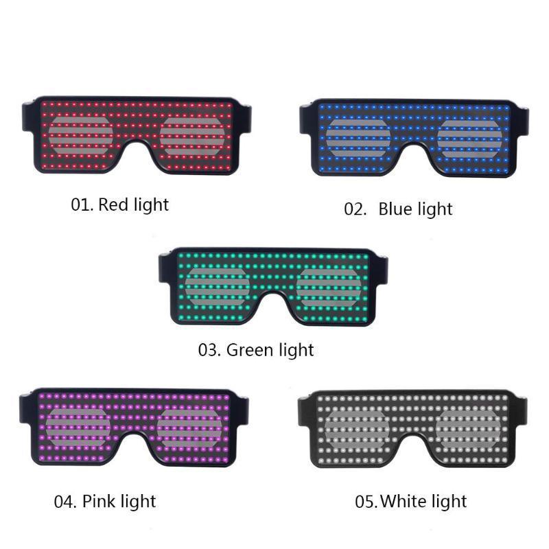 acedf57a07 Compre Parpadeante LED Gafas Del Partido Futurista Ojos Escudo Gafas  Luminosas Fiesta De Cumpleaños De Navidad Decoración De La Boda Regalo USB  Carga A ...