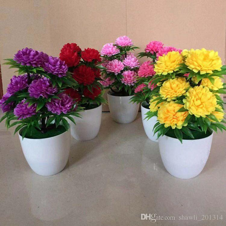 2019 Wholesale Chrysanthemum Fake Flower Pot Plant Bonsai Fake Plants For Home Faux Floral Shop Garden Party Decoration From Shawli_201314 $3.48 | DHgate. & 2019 Wholesale Chrysanthemum Fake Flower Pot Plant Bonsai Fake ...