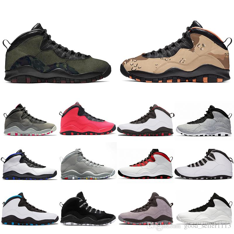 hot sale online 2d565 f028b With Box 2019 Desert Camo 10s Mens Basketball Shoes Woodland Orland Cement  10 Westbrook Im Back Dark Smoke Grey Steel Men Sports Sneakers Kevin Durant  ...