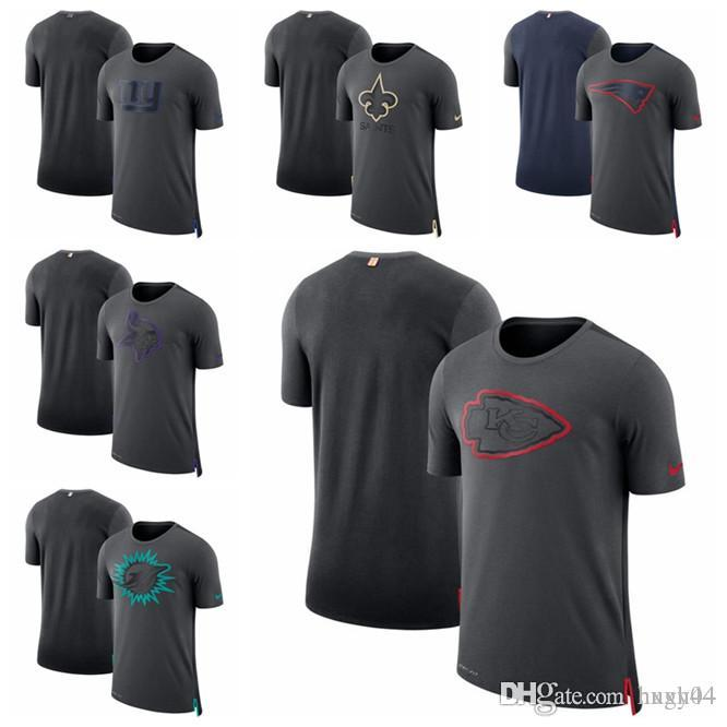 buy popular 24dab 79374 New York Giants New Orleans Saints New Patriots Vikings Minnesota Dolphins  Miami Kansas Chiefs City Travel Mesh Performance T-Shirt