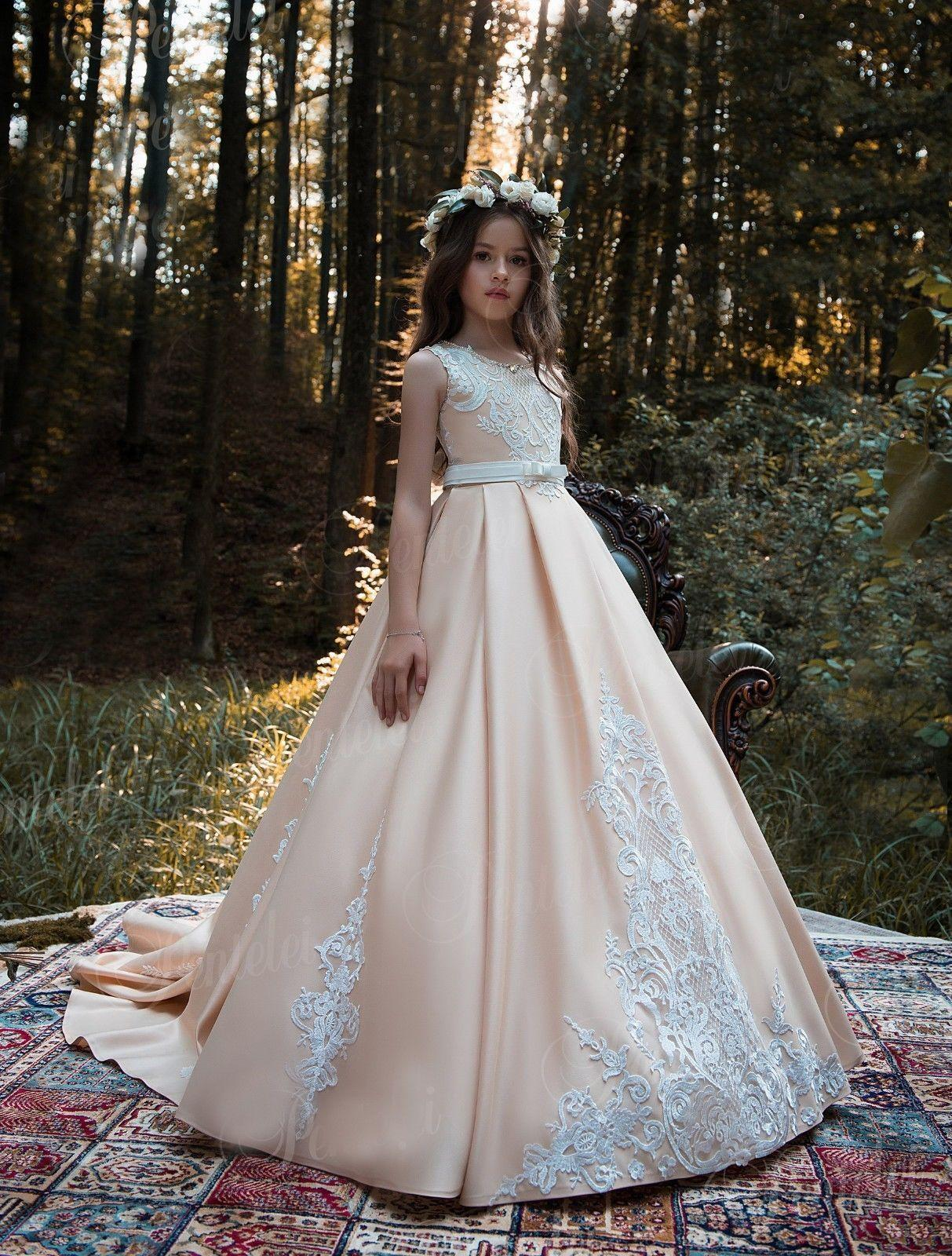 8201d95b1ed Girls Pageant Dresses For Teens Jewel Neck Illusion Sleeves Lace Crop Top  Tiered Skirt Girls Party Gown Flower Girl Dresses Canada Flower Girl  Headbands ...