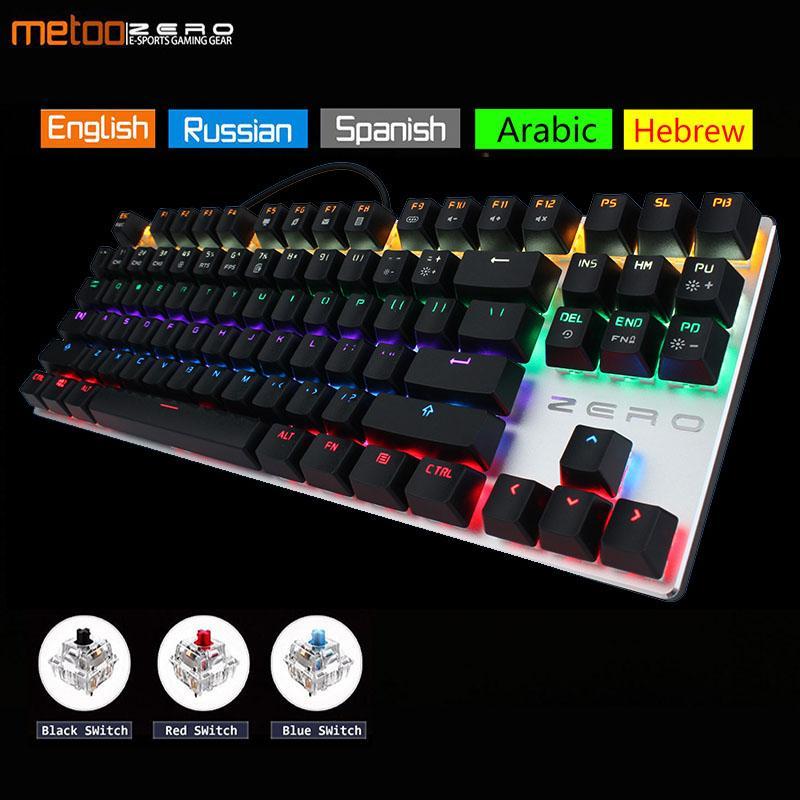 86475c2f8fa Metoo Zero Gaming Keyboard Russian/English/Arabic Mechanical Keyboard 104  Keys Usb Wired Blue/Red/Black Switch Silicone Keyboard Slim Keyboard From  Umbre, ...