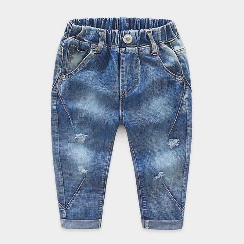 9d182665265 Sky Blue Bleached Ripped Children Broken Hole Pants Boys Elastic Waist  Hollow Out Distressed Jeans Garcon Fashion Handsome Deni 7 Jeans For Baby  Jean Shorts ...