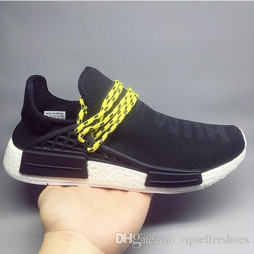 7b59e8207 2018 Hot Pharrell Williams X Women Men Running Shoes Human Race NMD Sports  Shoes Athletic Outdoor Shoes Noble Ink Yellow Blue Wholesale Boat Shoes  Shoes For ...