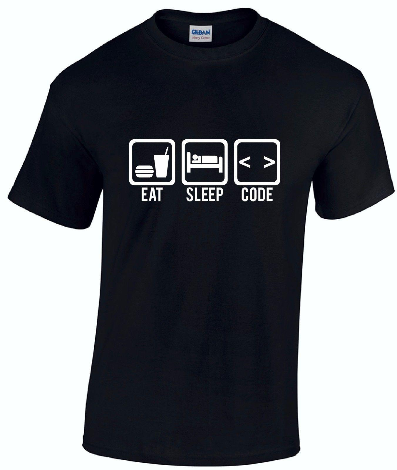 5e09611a Eat Sleep Code Computer Programmer Funny Mens T Shirt Christmas Gift FREE  POST Funny Unisex T Shirt Every Day Funny Cool Shirts From Thetoynation, ...