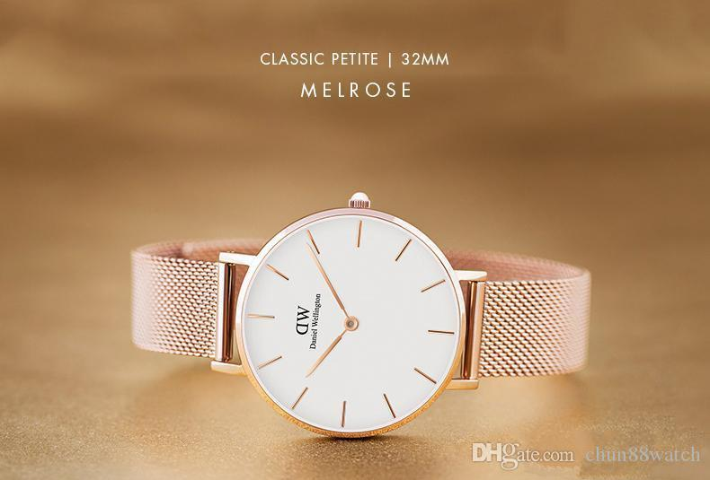 431e4a288f90 With Original Box Daniel Wellington Watches Luxury Brand Dw Watches Fine  Steel Strap Montre Femme 40mm Mens Women 36mm Quartz Watch Relogio Best ...