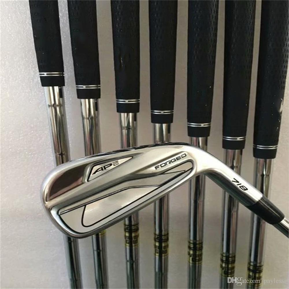 NNew mens Golf Clubs 718 AP2 Golf irons Set 3-9P#R/S Steel shafts Clubs Irons 8pcs/set Grips Free shipping