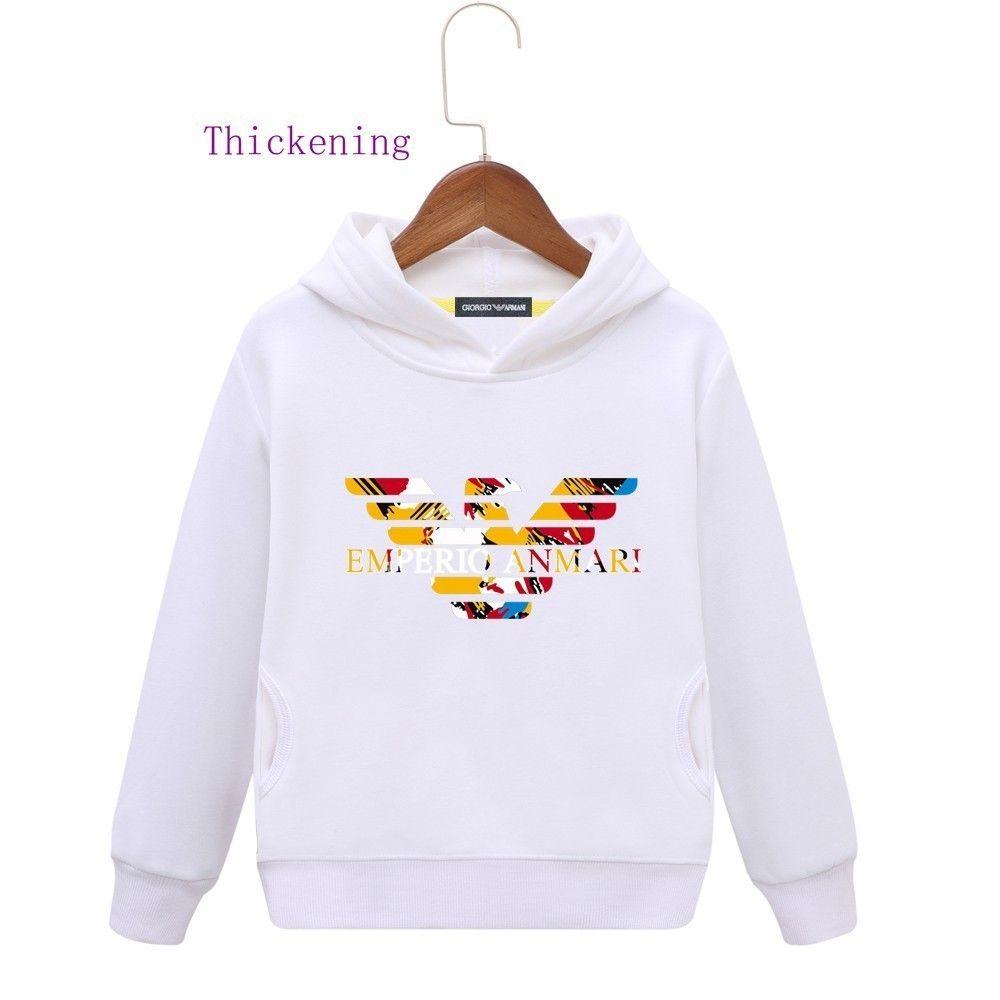 4788bea0140353 Warm Hoodie Children Belt Caps Double-deck Plus Cashmere Korean Edition  Baby Clothing Thickening Stripe Hat Shirt Jacket New Pattern Tide Sweaters  Kids ...