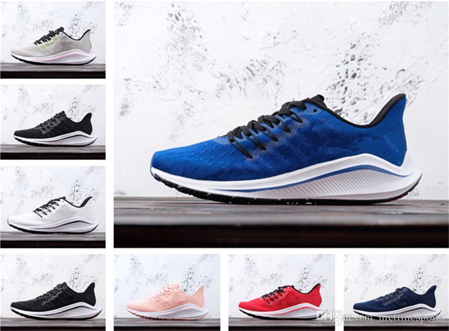 online retailer 6b8ea bbf1f Acheter 2019 Nouveautés Zoom Vomero 14 Blanc Rouge Marathon Chaussures De  Course 19ss Haute Qualité Hommes Designer Femmes Enfants Chaussures Baskets  ...