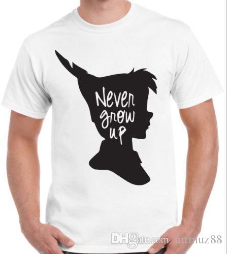 18e5e666 Never Grow Up Custom T Shirt Neverland Peter Pan Quote Inspiration ...
