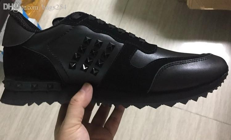 New Top Fashion Stud Camouflage Sneakers Shoes Footwear Women Flats Luxury Designer Rockrunner Trainers Men Casual Shoes