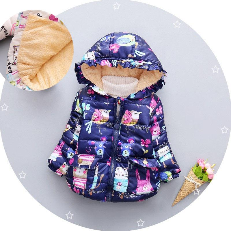 2d54ec222 Good Quality 2019 Winter Baby Girls Coats Kids Cartoon Graffiti Jackets  Hooded Children Outerwear Down Parka Coat Warm Kids Snowsuit Online with  $46.9/Piece ...