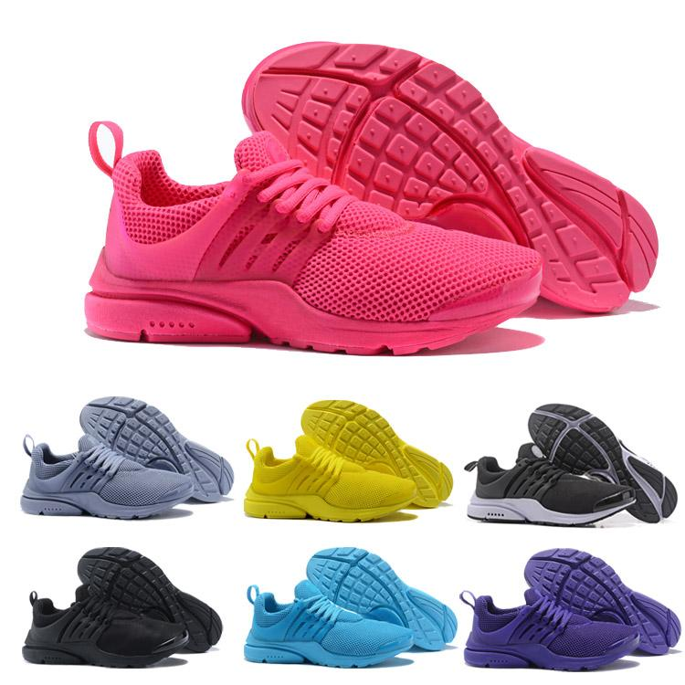 size 40 a8a50 d1646 New 2018 Prestos 5 Running Shoes Men Women Presto Ultra BR QS Yellow Pink  Oreo Outdoor Fashion Jogging Sports Sneakers Size EUR 36 45 Cheap Shoes For  Men ...