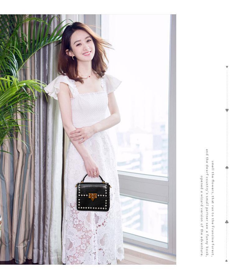 d4df302cc494 Bag Female 2019 New Korean Version Of The Trend Of Fashion Diamond Ins With  The Same Paragraph Ladies Shoulder Messenger Bag Shoulder Bags Designer  Purses ...