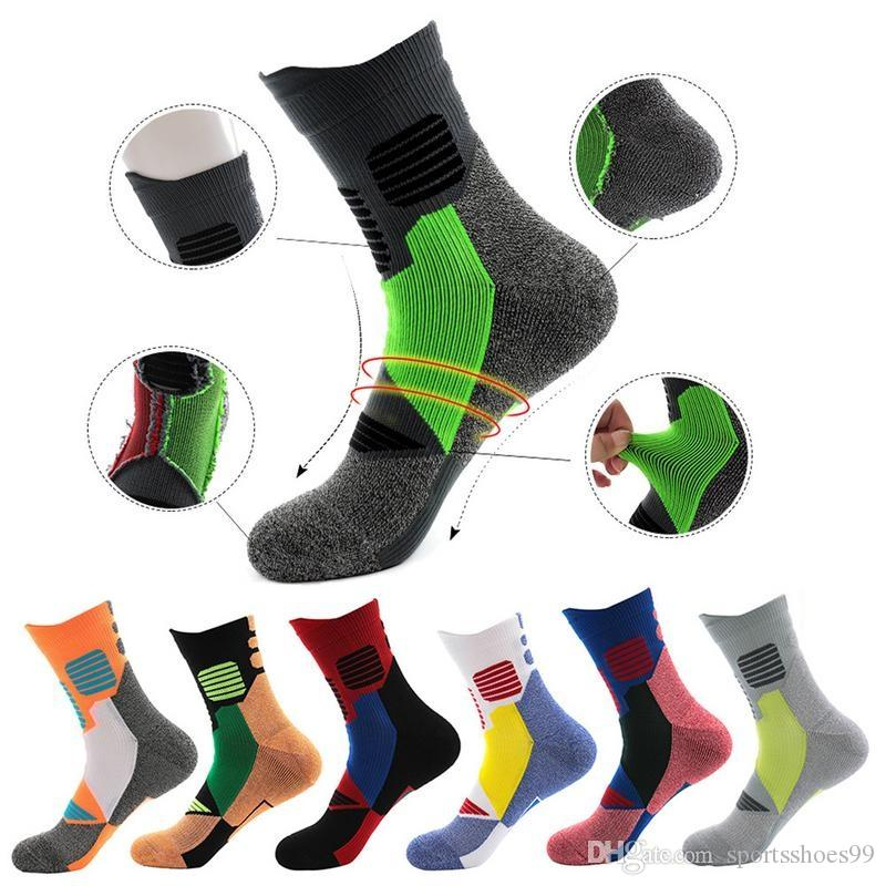 e75387aebae2f 2019 Men Outdoor Terry Running Sports Socks Athletes Sweat Absorbent  Breathable Basketball Sports Socks 7 Style To Choose #19860 From  Sportsshoes99, ...
