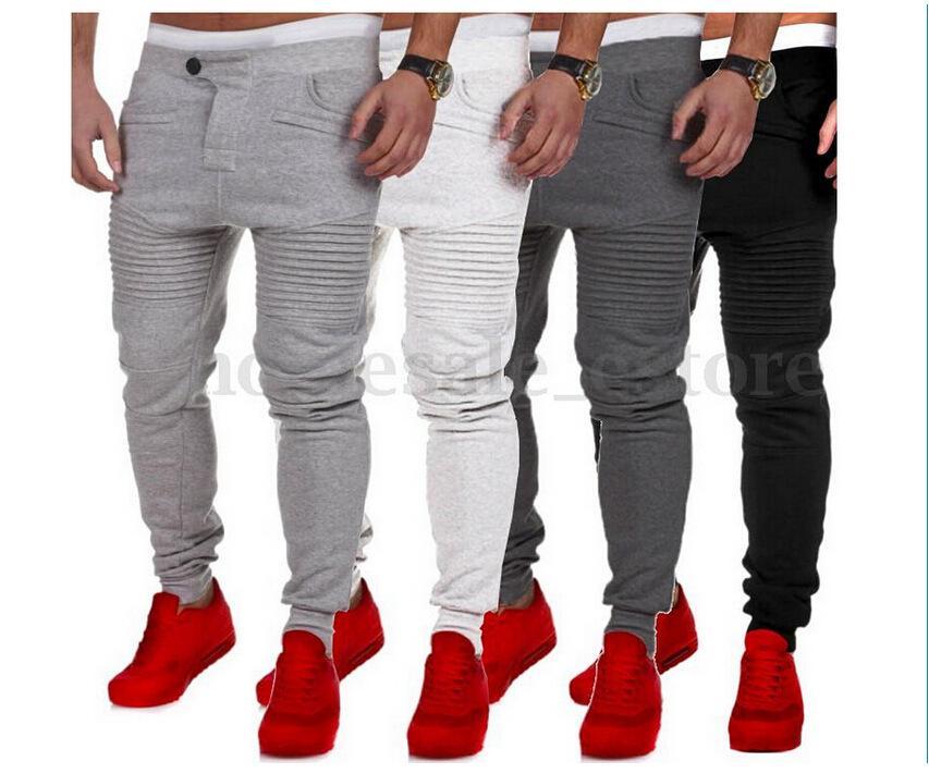 720f7f0874 Compre Pantalón De Hombre Pantalón De Chándal Harem Joggers De Diseño Puño  Elástico Gota Entrepierna Biker Joggers Pantalones Para Hombres Negro Gris  Gris ...