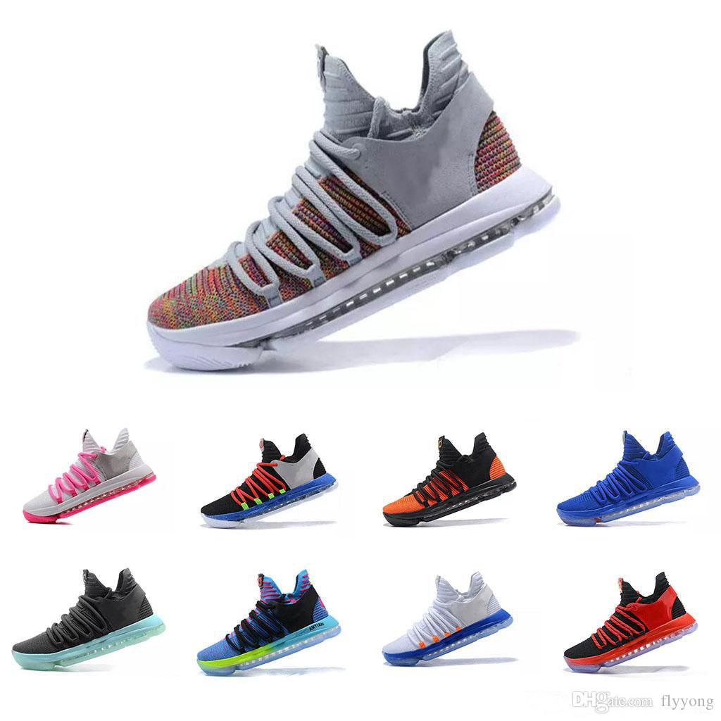 16b6f36ca52aa 2019 Cheap Zoom KD 10 Mens Basketball Anniversary University Red Still Kd  Igloo BETRUE Oreo Shoes US Kevin Durant Elite KD10 Sport Sneakers KDX From  Flyyong ...