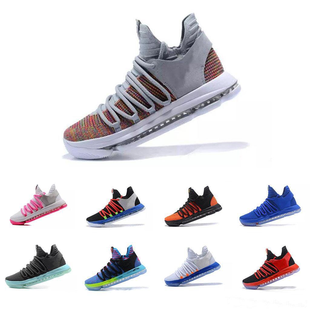 timeless design fd739 888df Scarpe Da Corsa Zoom Economici KD 10 Mens Basketball Anniversary Università  Red Still Kd Igloo BETRUE Oreo Shoes US Kevin Durant Elite KD10 Sport  Sneakers ...