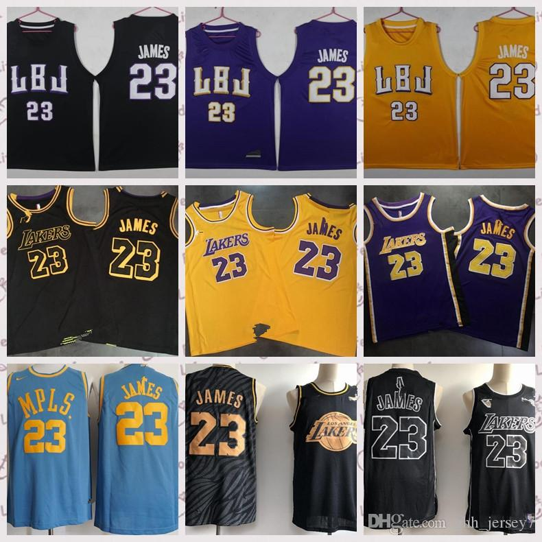2cc9cff38a09 Los Angeles Lakers 23-Lebron James Fans 18-19 Season Adult Mesh ...