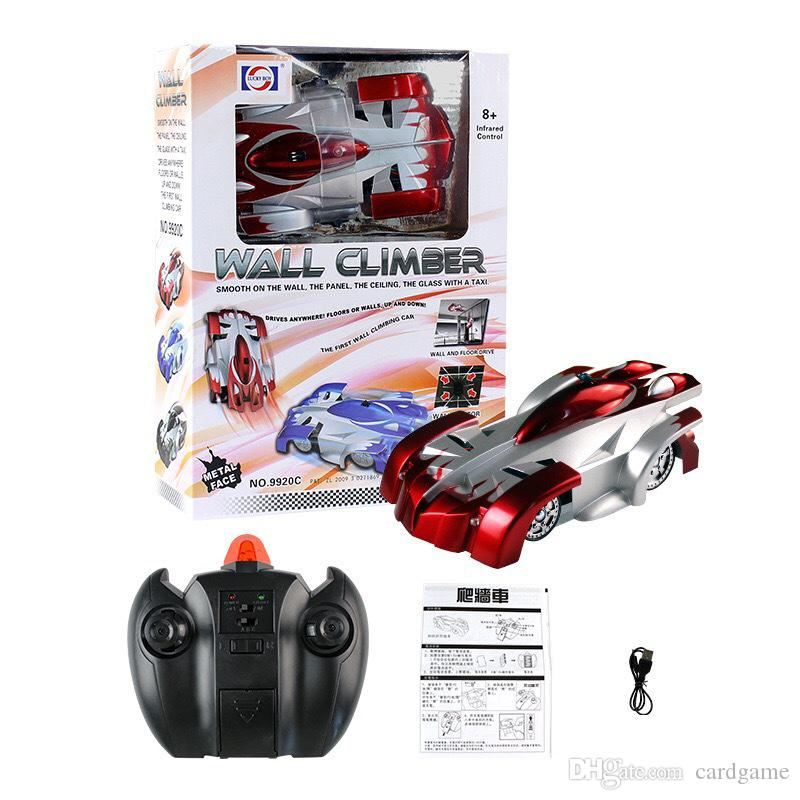 Wholesale-Remote Control Car Wall Climber Ceiling Climbing Car RC Electric Toys Anti Zero Gravity Stunt Car Lucky Boy