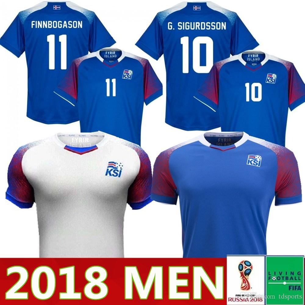 d26ca0d04 2019 Iceland Soccer Jersey 2018 World Cup GUDMUNDSSON SIGURDSSON  SIGTHORSSON G.SIGURDSSON TRAUSTASON FINNBOGASON INGASON Football Uniforms  Shirts From ...
