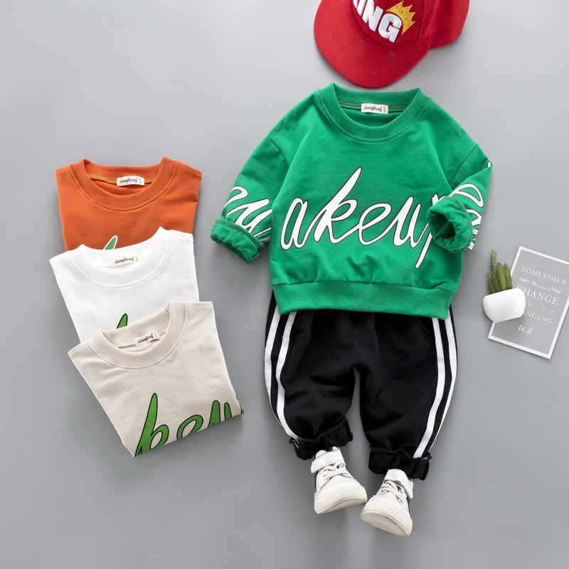 0-4 years High quality boy girl clothing set 2019 new spring fashion active sport kid suit children baby clothing T-shirt+pant