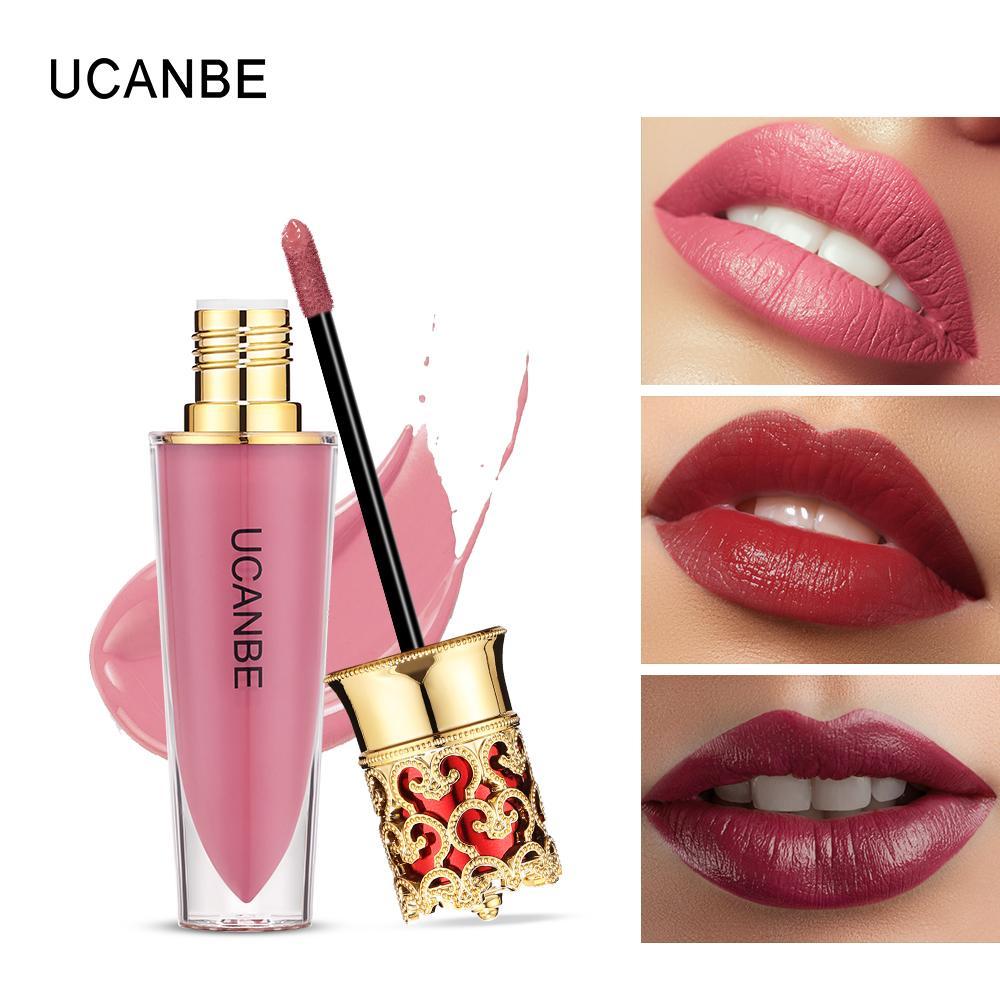 2365c7ceb UCANBE Matte Shimmer Liquid Lipstick Makeup Waterproof Pigmented Velvet Lip  Gloss Metallic Lipgloss Cosmetics Lip Tint Rimmel Lip Gloss Starlooks Lip  Gloss ...