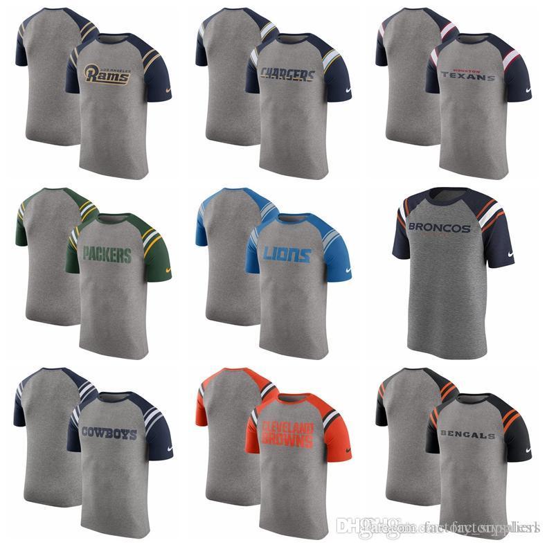 b6c75dee0 2018 Mens T Shirts Bengals Cleveland Browns Dallas Cowboys Denver Broncos  Detroit Lions Packers Enzyme Shoulder Stripe Raglan T Shirt Mens T Shirts  Funny ...