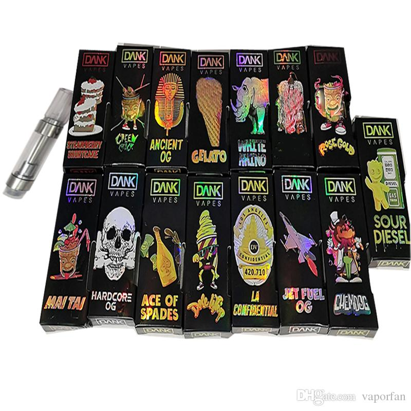 Holographic Dank Vapes 510 Ceramic Cartridges Empty Vape Pen Vaporizer Pen  Vape Cartridge Packaging 1ML E Cigarettes Vape Carts Oil Atomizer