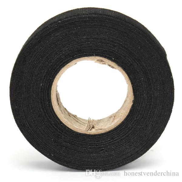 Newest 19mmx 15M Hot Adhesive Cloth Fabric Tape Cable Looms Wiring Harness For Car Auto Heat-resistant Wiring Harness Tape
