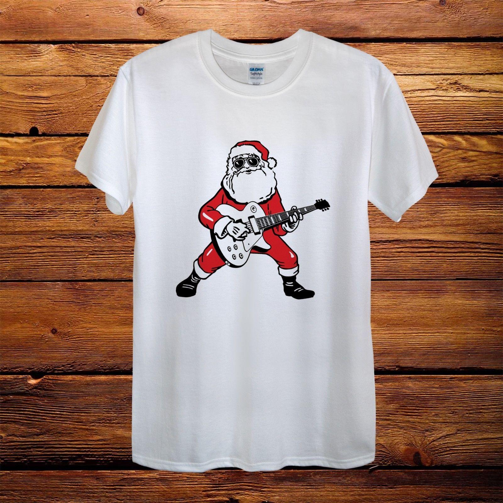 14ad3f52 Santa Claus Rocker Merry Christmas Gift T Shirt Men Unisex Women  FittedFunny Unisex Casual Tshirt Top Humorous T Shirts T Shirts Funny From  Thebestoree, ...