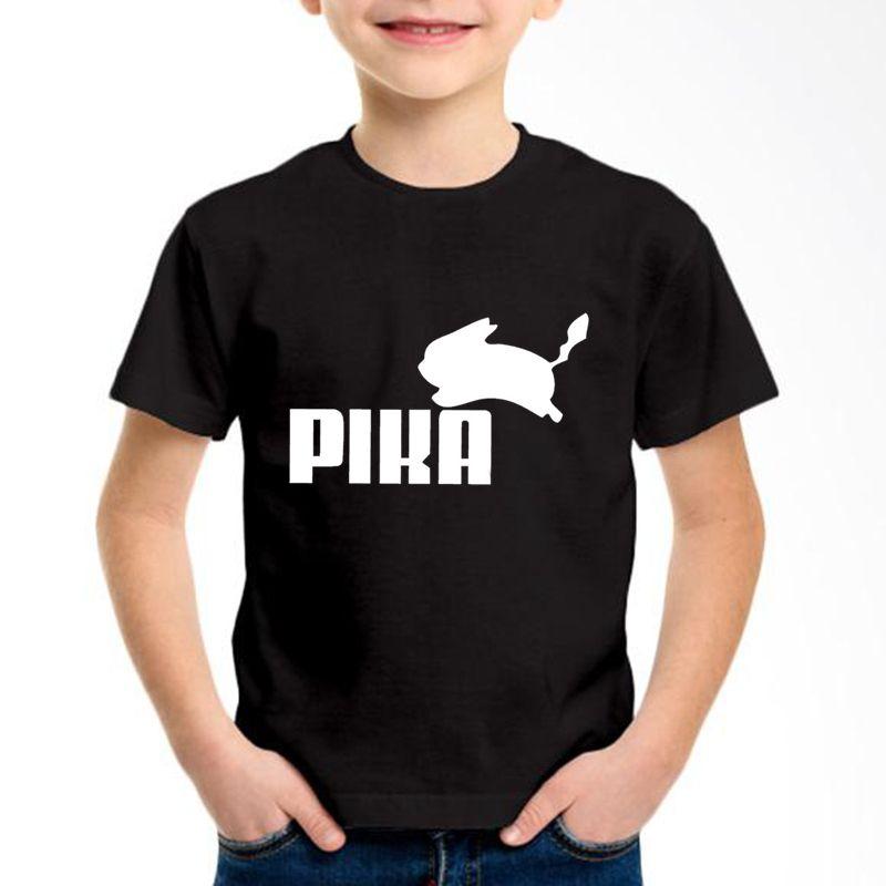2019 Good Go Pikachu Logo Printed Children Cotton T Shirts Kids